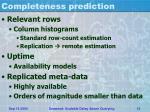 completeness prediction