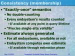 consistency membership