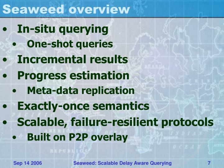 Seaweed overview