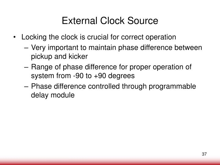External Clock Source