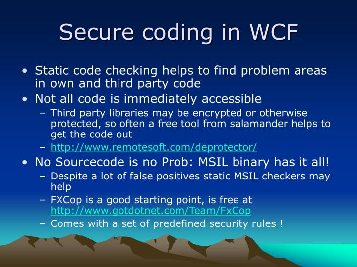 Secure coding in WCF