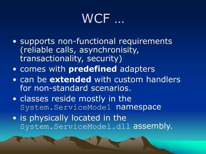 WCF …