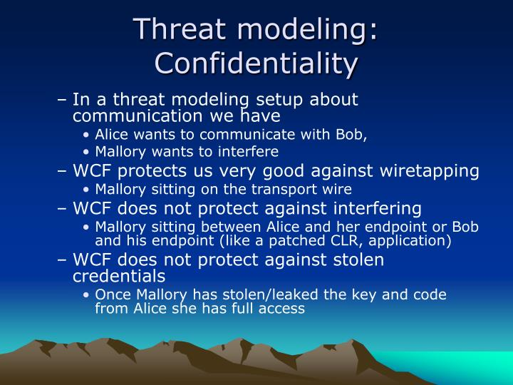 Threat modeling: Confidentiality