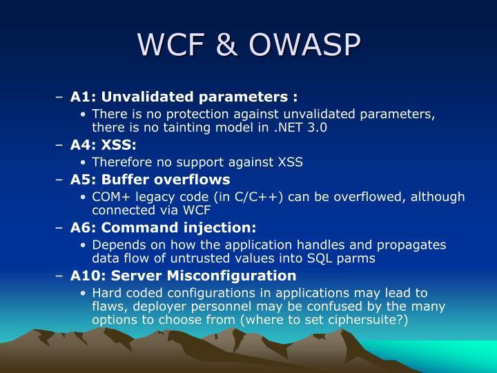 WCF & OWASP