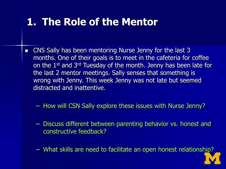 1.  The Role of the Mentor