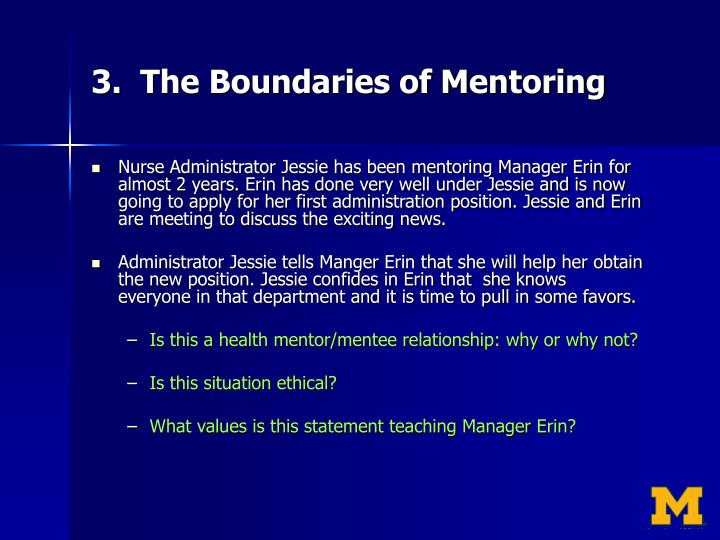 3.  The Boundaries of Mentoring