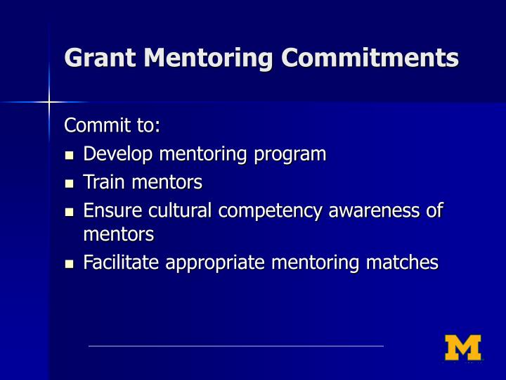Grant Mentoring Commitments