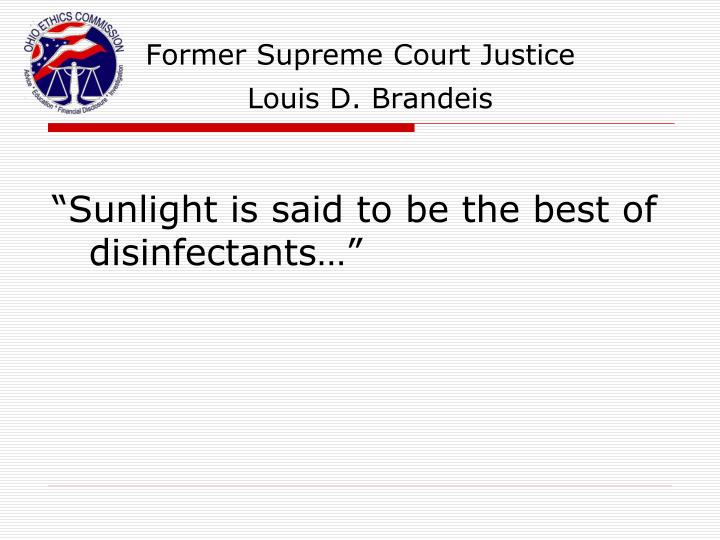 Former Supreme Court Justice