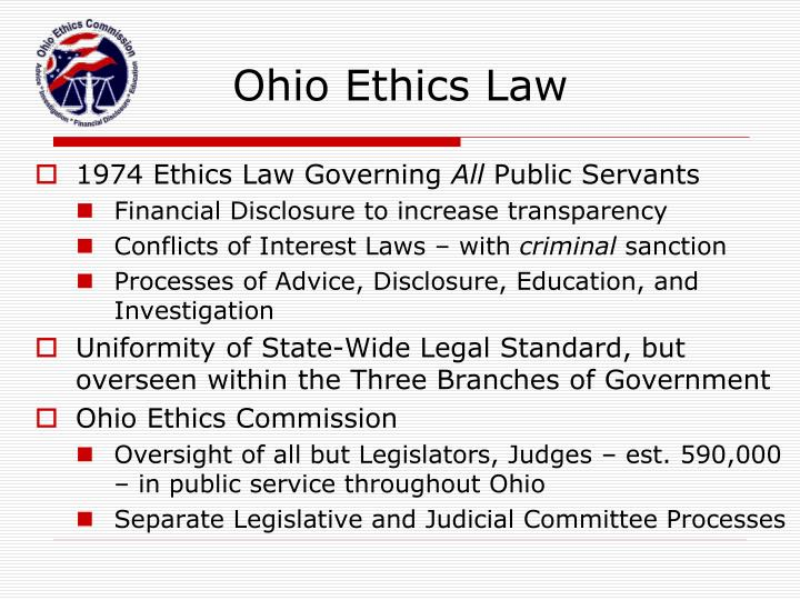 Ohio Ethics Law