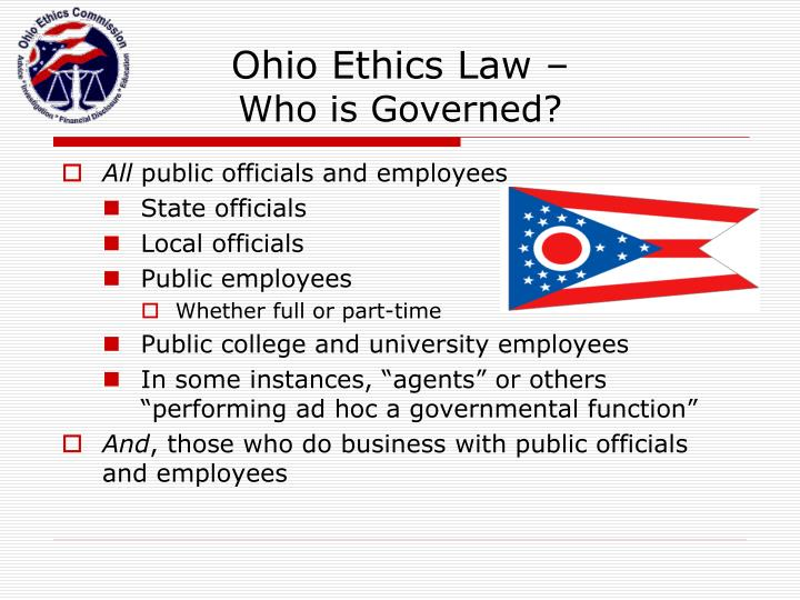 Ohio Ethics Law –