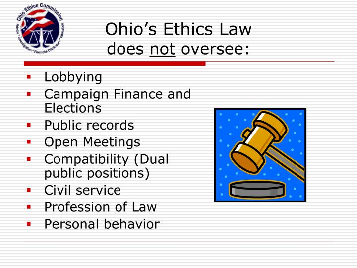 Ohio's Ethics Law