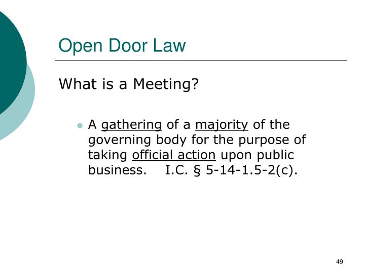 Open Door Law