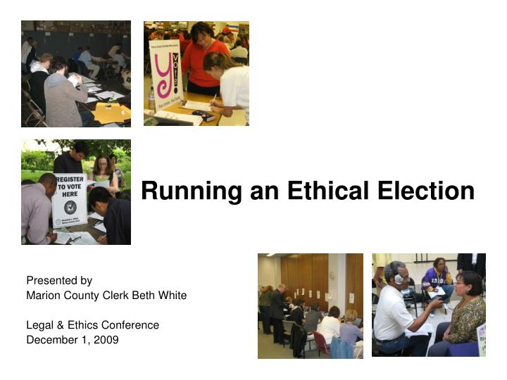 Running an Ethical Election