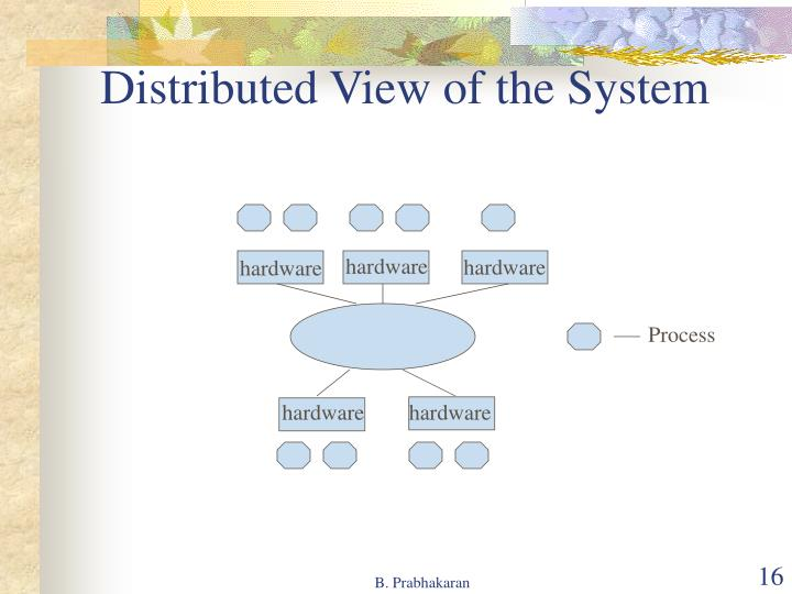Distributed View of the System