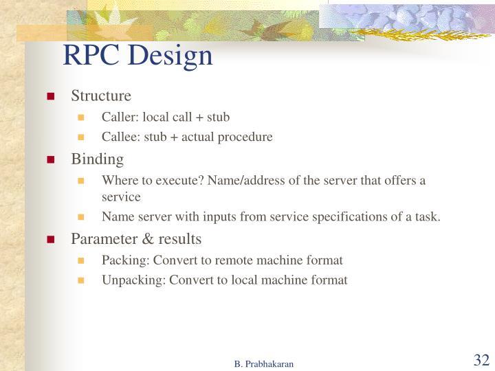RPC Design