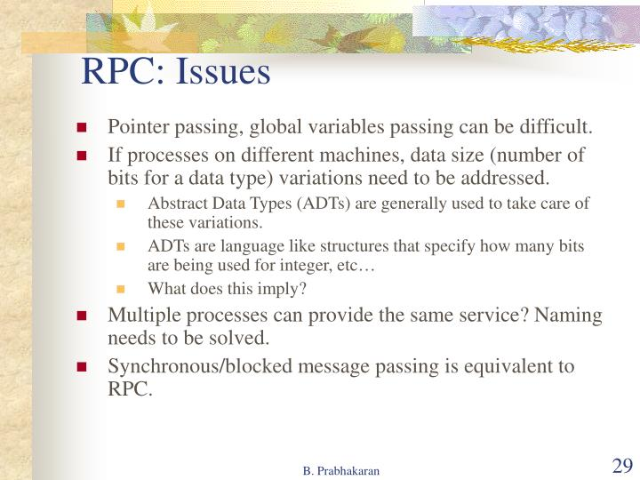 RPC: Issues