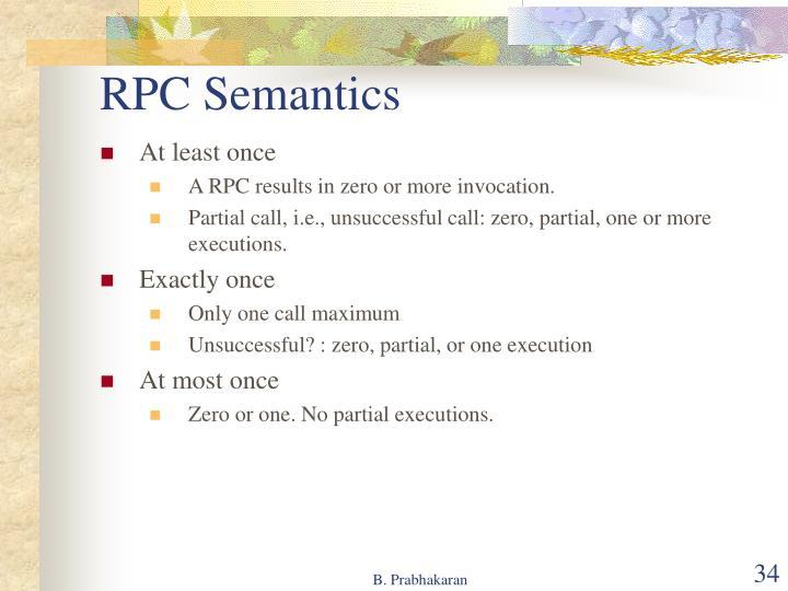 RPC Semantics
