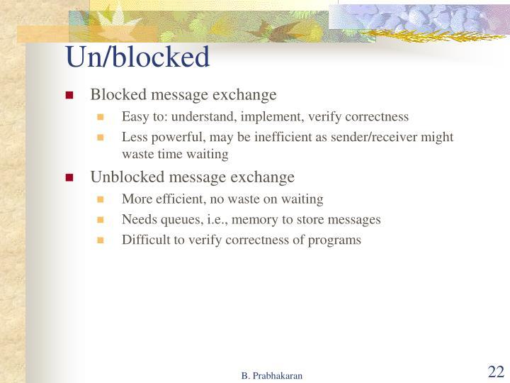 Un/blocked