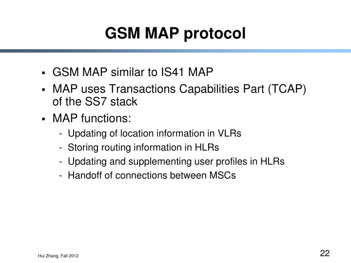 GSM MAP protocol