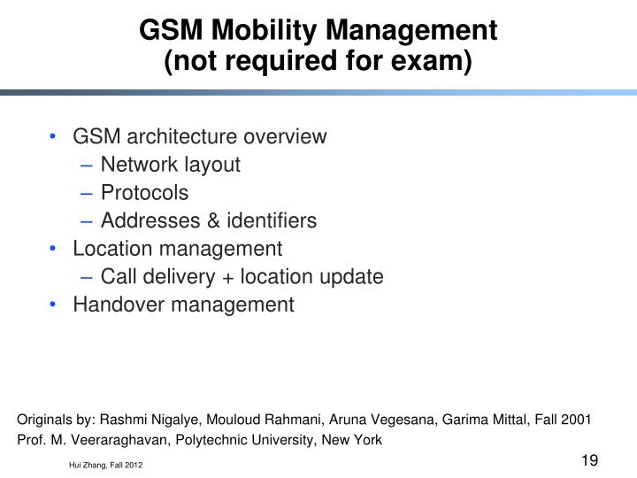 GSM Mobility