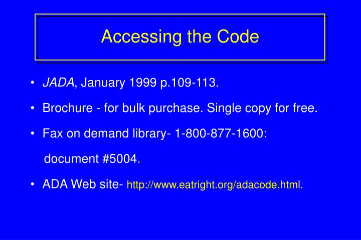 Accessing the Code