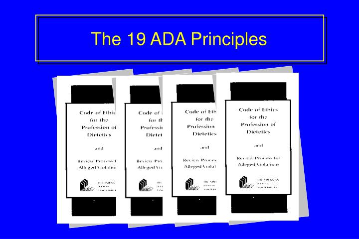 The 19 ADA Principles