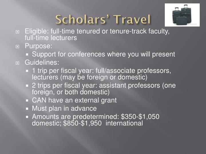 Scholars' Travel