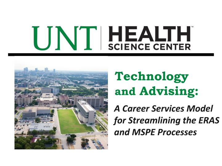 technology and advising