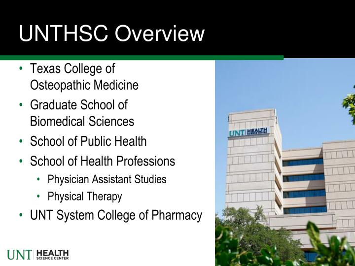UNTHSC Overview