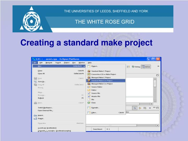 Creating a standard make project