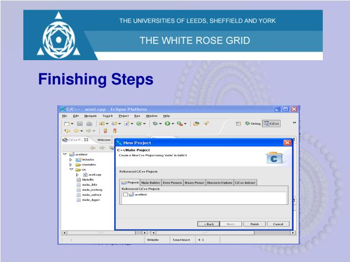 Finishing Steps