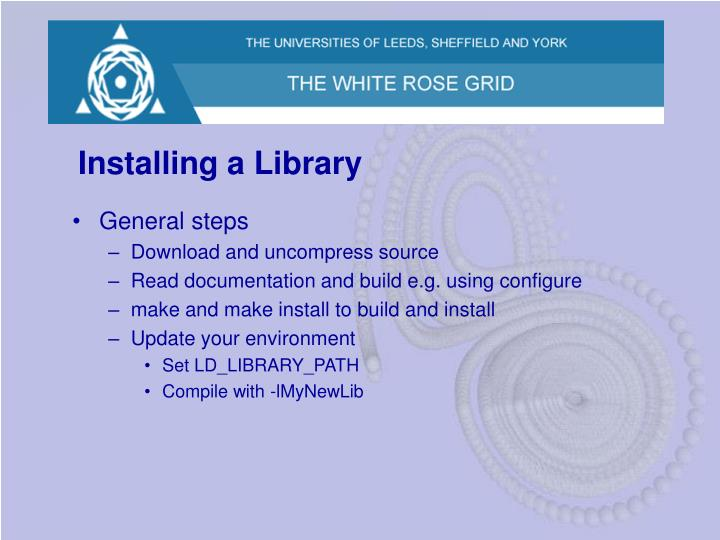Installing a Library