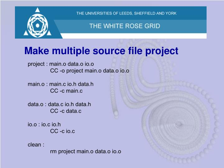 Make multiple source file project