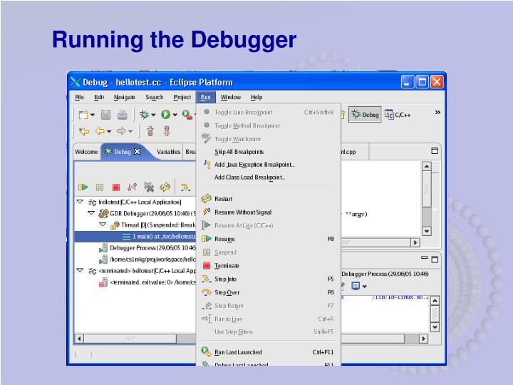 Running the Debugger