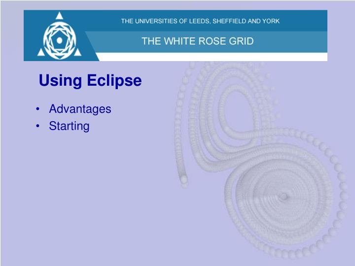 Using Eclipse