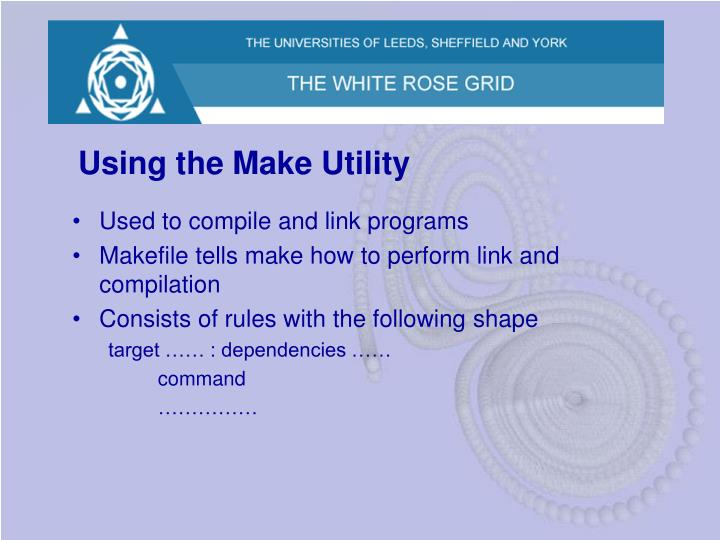 Using the Make Utility