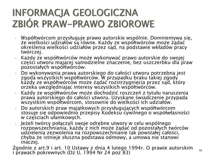 INFORMACJA GEOLOGICZNA