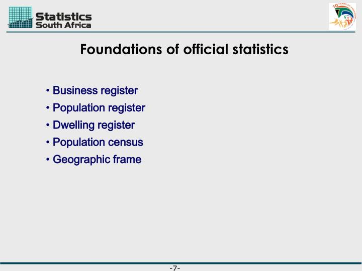 Foundations of official statistics