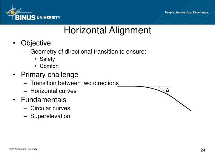 Horizontal Alignment