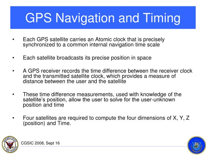 GPS Navigation and Timing