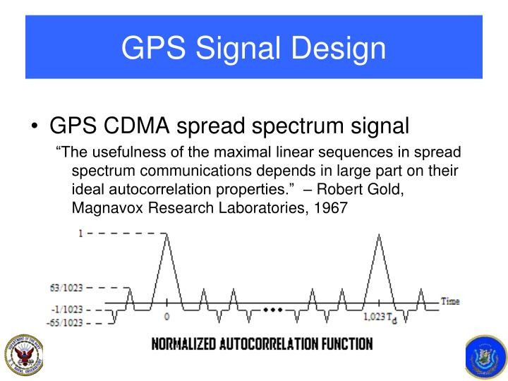 GPS Signal Design
