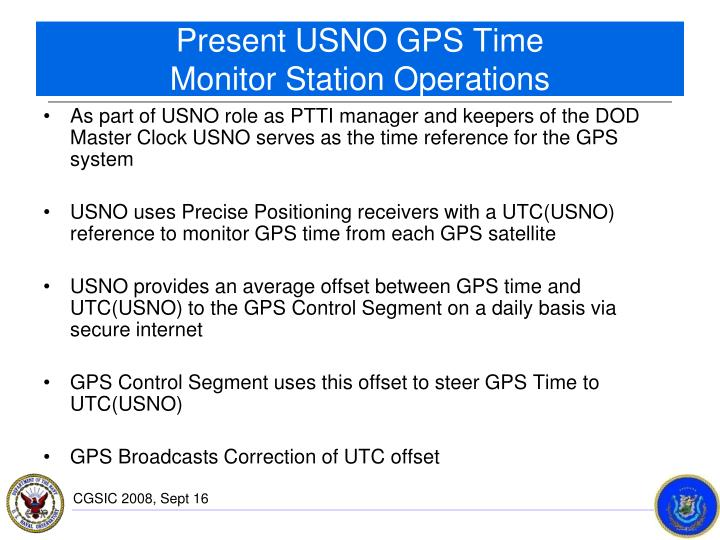 Present USNO GPS Time