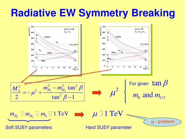 Radiative EW Symmetry Breaking