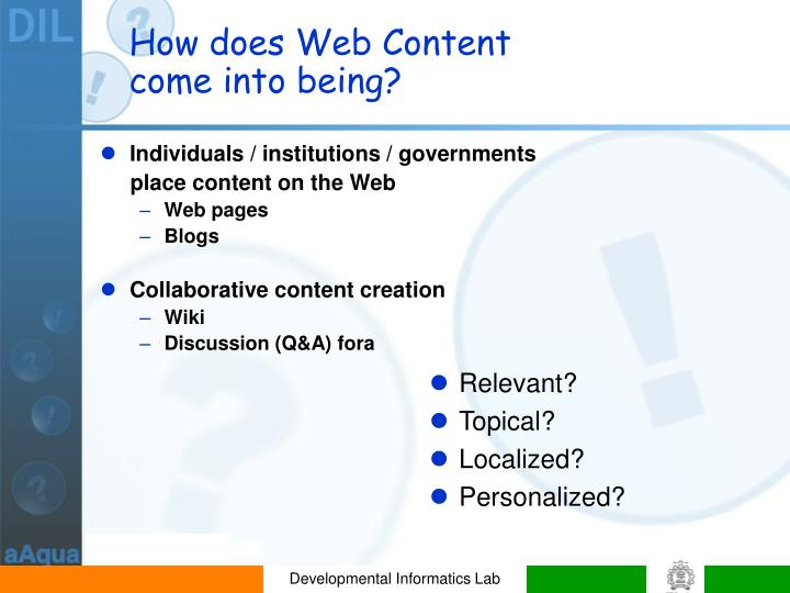 How does Web Content