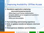 improving availability offline access