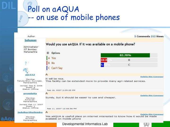 Poll on aAQUA