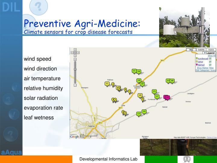Preventive Agri-Medicine: