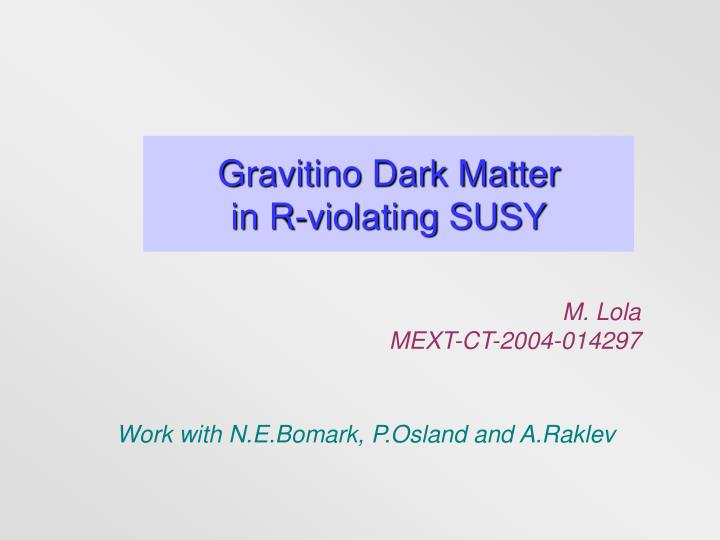 Gravitino dark matter in r violating susy