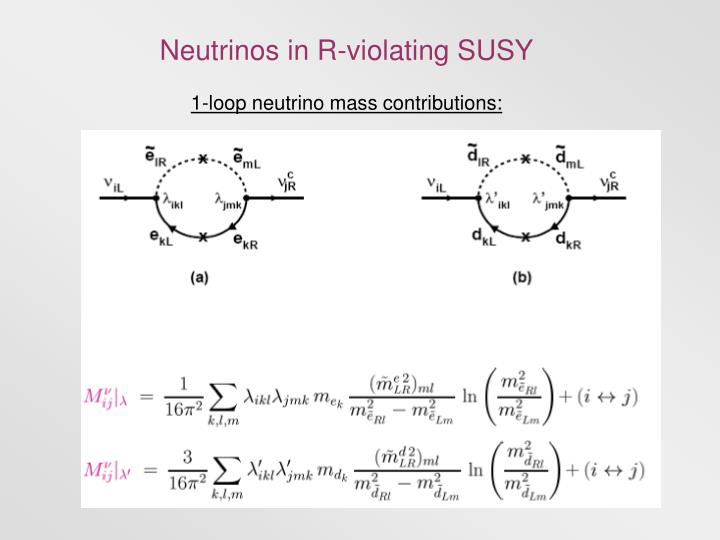 Neutrinos in R-violating SUSY