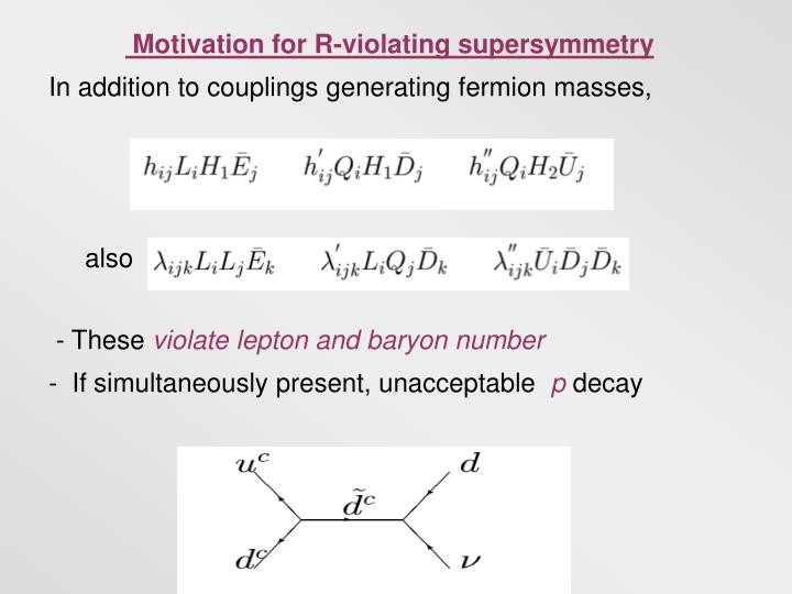 Motivation for R-violating supersymmetry
